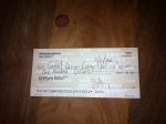 The first check written by our little brewery!  Thanks to the folks at Central Oregon Garage Door for removing and storing our old doors to make room for the collaboration effort between Eric Anderson of Norse Construction and Hunter Dahlberg of Orion Forge.